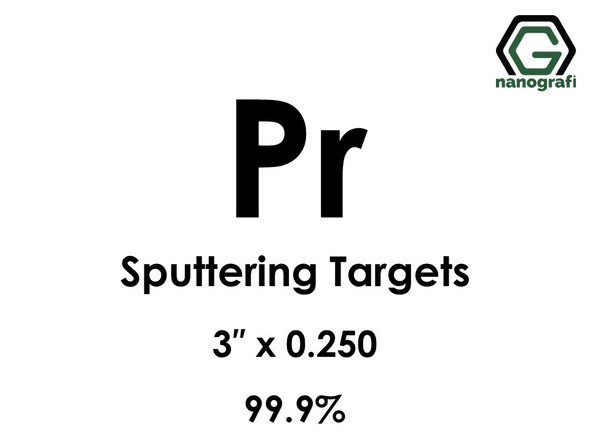 Praseodymium (Pr) Sputtering Targets, Size:3'' ,Thickness:0.250'' , Purity: 99.9%