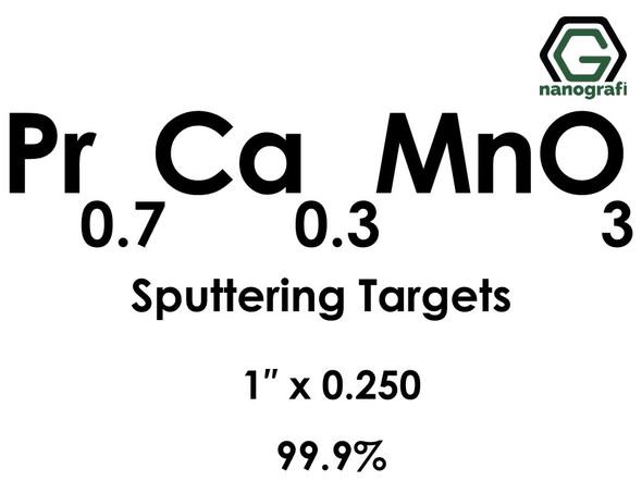 Praseodymium Calcium Manganate (Pr0.7Ca0.3MnO3) Sputtering Targets, Size:1'' ,Thickness:0.250'' , Purity: 99.9%