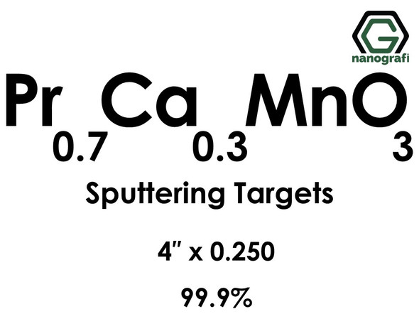 Praseodymium Calcium Manganate (Pr0.7Ca0.3MnO3) Sputtering Targets, Size:4'' ,Thickness:0.250'' , Purity: 99.9%