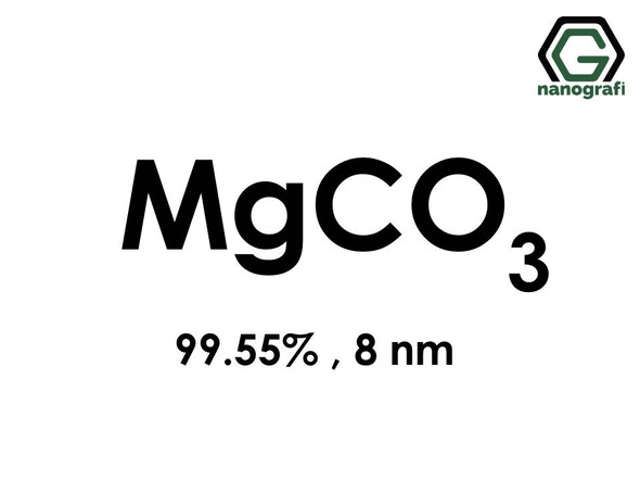 Magnesium Carbonate (MgCO3) Nanopowder/Nanoparticles, Purity: 99.55%, Size: 8 nm- NG04SO2301