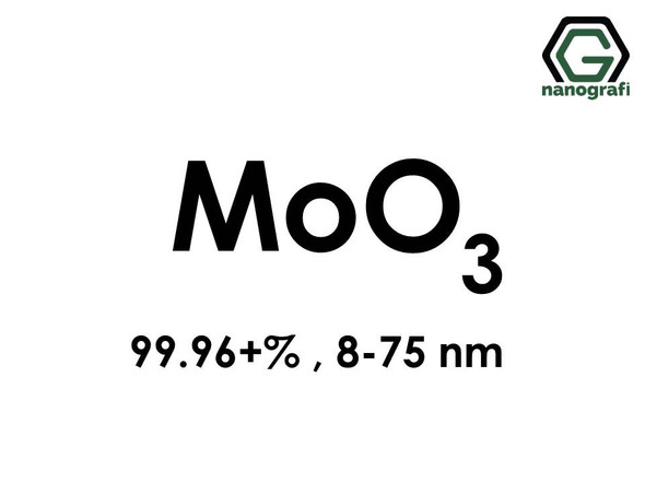 Molybdenum Oxide (MoO3) Nanopowder/Nanoparticles, High Purity: 99.96+%, Size: 8-75 nm- NG04SO2401