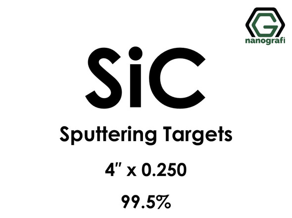 Silicon Carbide (SiC) Sputtering Targets, Size:4'' ,Thickness:0.250'' , Purity: 99.5%