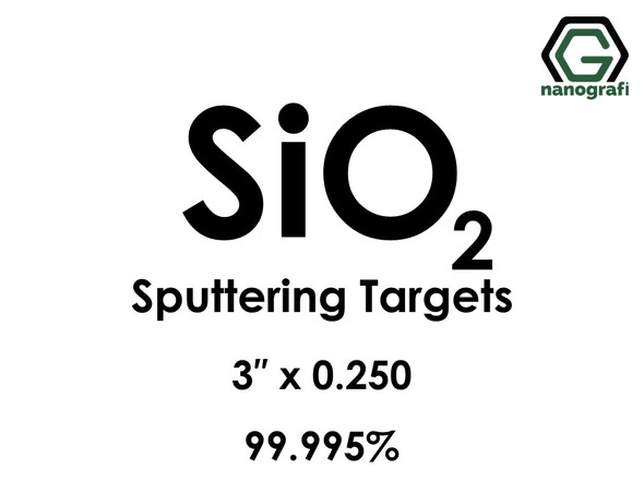 Silicon Dioxide (Fused Quartz)(SiO2) Sputtering Targets, Size:3'' ,Thickness:0.250'' , Purity: 99.995%