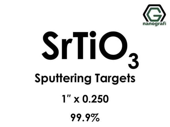 Strontium Titanate (SrTiO3) Sputtering Targets, Size:1'' ,Thickness:0.250'' , Purity: 99.9%