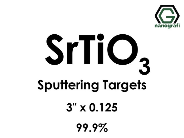 Strontium Titanate (SrTiO3) Sputtering Targets, Size:3'' ,Thickness:0.125'' , Purity: 99.9%