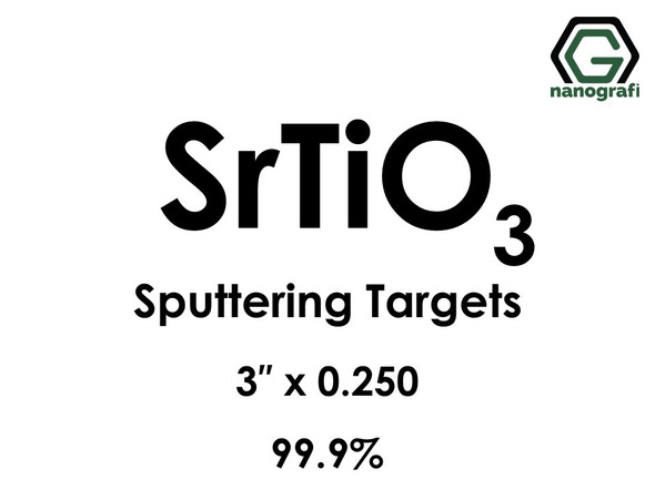 Strontium Titanate (SrTiO3) Sputtering Targets, Size:3'' ,Thickness:0.250'' , Purity: 99.9%