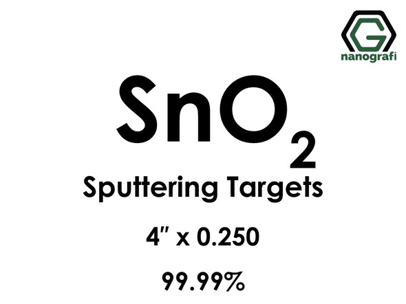 Tin Oxide (SnO2) Sputtering Targets, Size:4'' ,Thickness:0.250'' , Purity: 99.99%