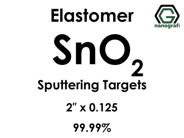 Tin Oxide (elastomer)(SnO2) Sputtering Targets, Size:2'' ,Thickness:0.125'' , Purity: 99.99%