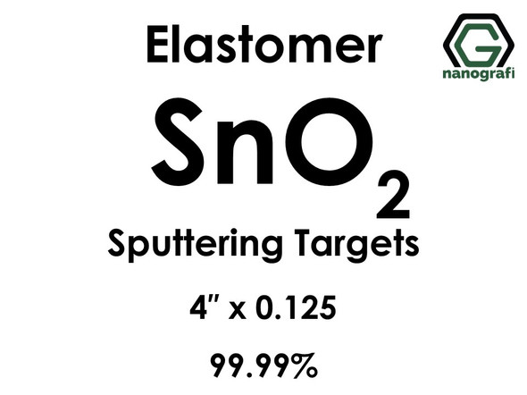 Tin Oxide (elastomer)(SnO2) Sputtering Targets, Size:4'' ,Thickness:0.125'' , Purity: 99.99%