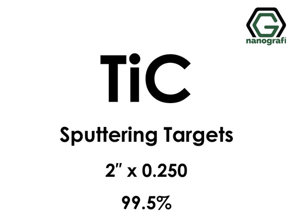 Titanium Carbide (TiC) Sputtering Targets, Size:2'' ,Thickness:0.250'' , Purity: 99.5%