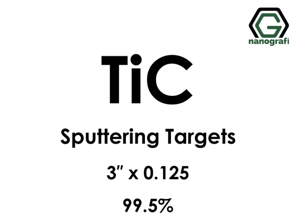 Titanium Carbide (TiC) Sputtering Targets, Size:3'' ,Thickness:0.125'' , Purity: 99.5%