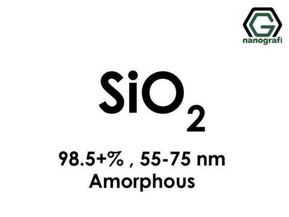 Silicon Dioxide (SiO2) Nanopowder/Nanoparticles, Amorphous, Purity: 98.5+%, Size: 55-75 nm- NG04SO3103