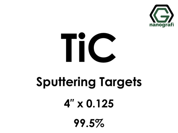 Titanium Carbide (TiC) Sputtering Targets, Size:4'' ,Thickness:0.125'' , Purity: 99.5%