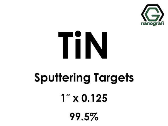 Titanium Nitride (TiN) Sputtering Targets, Size:1'' ,Thickness:0.125'' , Purity: 99.5%