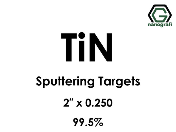 Titanium Nitride (TiN) Sputtering Targets, Size:2'' ,Thickness:0.250'' , Purity: 99.5%