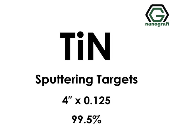 Titanium Nitride (TiN) Sputtering Targets, Size:4'' ,Thickness:0.125'' , Purity: 99.5%