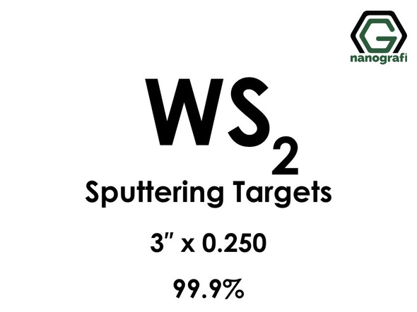 Tungsten Disulfide (WS2) Sputtering Targets, Size:3'' ,Thickness:0.250'' , Purity: 99.9%