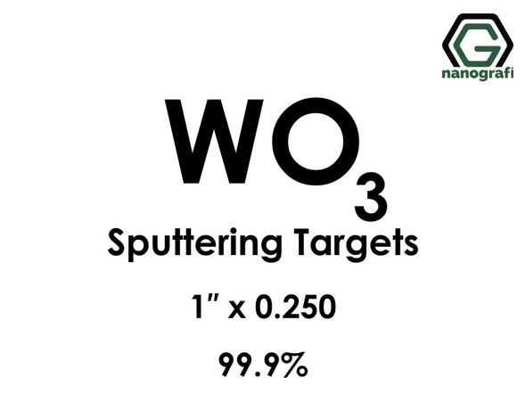 Tungsten Oxide (WO3) Sputtering Targets, Size:1'' ,Thickness:0.250'' , Purity: 99.9%