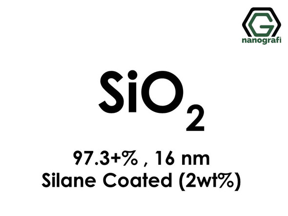 Silicon Dioxide (SiO2) Nanopowder/Nanoparticles, Purity: 97.3+ wt%, Size: 16 nm, Coated with 2 wt% Silane- NG04SO3107