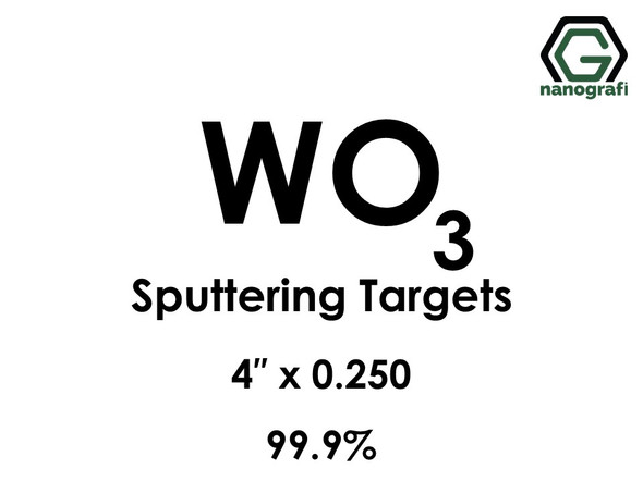 Tungsten Oxide (WO3) Sputtering Targets, Size:4'' ,Thickness:0.250'' , Purity: 99.9%