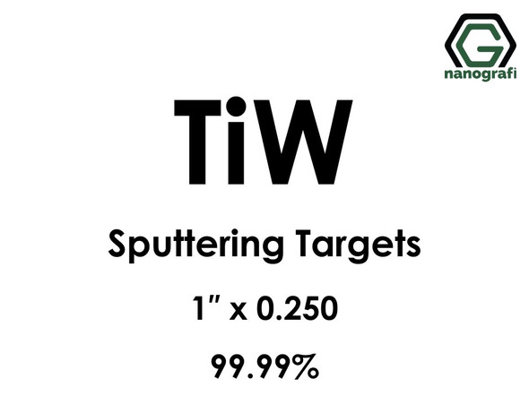 Tungsten Titanium (TiW) Sputtering Targets, Size:1'' ,Thickness:0.250'' , Purity: 99.99%