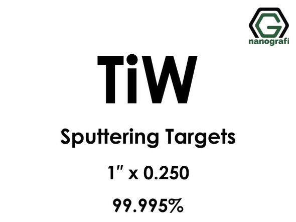Tungsten Titanium (TiW) Sputtering Targets, Size:1'' ,Thickness:0.250'' , Purity: 99.995%