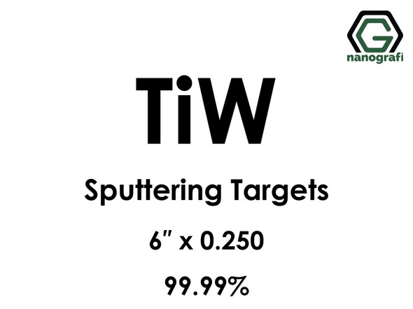 Tungsten Titanium (TiW) Sputtering Targets, Size:6'' ,Thickness:0.250'' , Purity: 99.99%