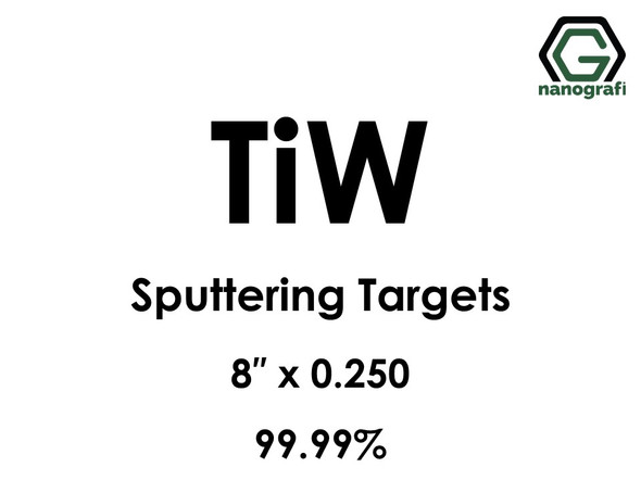 Tungsten Titanium (TiW) Sputtering Targets, Size:8'' ,Thickness:0.250'' , Purity: 99.99%