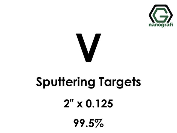 Vanadium (V) Sputtering Targets, Size:2'' ,Thickness:0.125'' , Purity: 99.5%