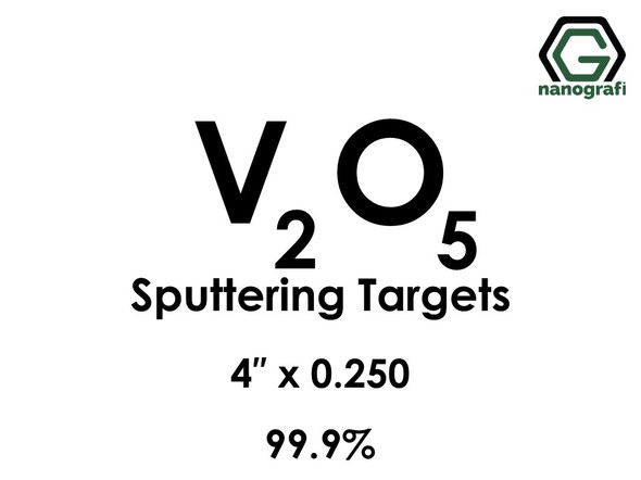 Vanadium Oxide (V2O5) Sputtering Targets, Size:4'' ,Thickness:0.250'' , Purity: 99.9%