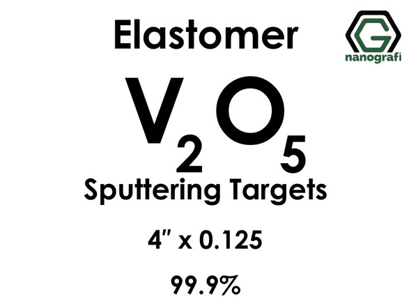 Vanadium Oxide (elastomer)(V2O5) Sputtering Targets, Size:4'' ,Thickness:0.125'' , Purity: 99.9%