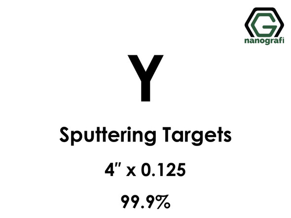 Yttrium (Y) Sputtering Targets, Size:4'' ,Thickness:0.125'' , Purity: 99.9%