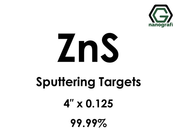Zinc Sulfide (ZnS) Sputtering Targets, Size:4'' ,Thickness:0.125'' , Purity: 99.99%