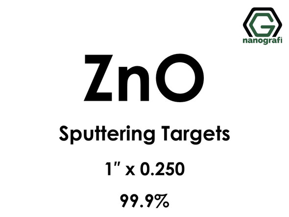 Zinc Oxide (ZnO) Sputtering Targets, Size:1'' ,Thickness:0.250'' , Purity: 99.9%