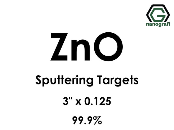 Zinc Oxide (ZnO) Sputtering Targets, Size:3'' ,Thickness:0.125'' , Purity: 99.9%