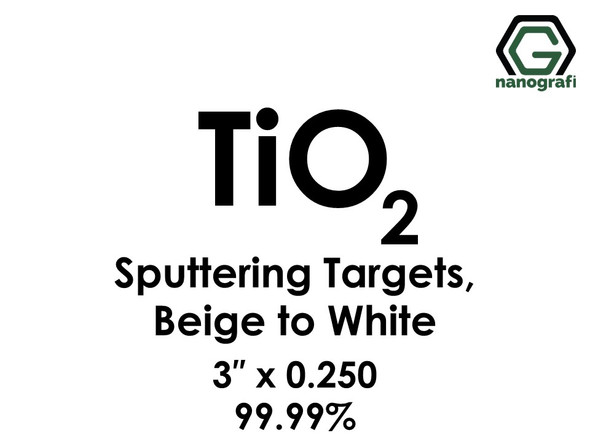 Titanium Dioxide(Beige to White) (TiO2) Sputtering Targets, Size:3'' ,Thickness:0.250'' , Purity: 99.99%