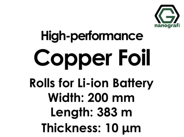 High-performance Copper Foil 10um Rolls for Lithium Ion Battery