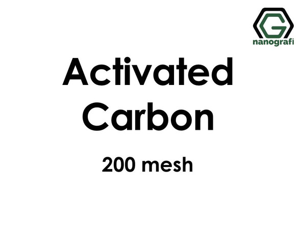 Activated Carbon Micron Powder, Size 200 Mesh