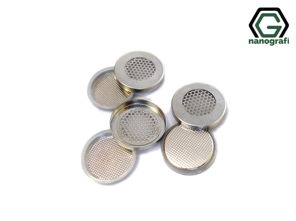 Meshed Lithium Air CR2032 Coin Cell Case with 304SS, Diameter: 20 mm, Height: 3.2 mm
