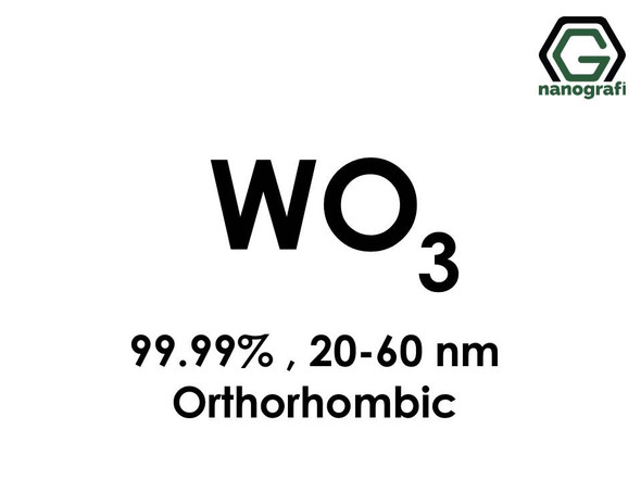 Tungsten Oxide (WO3) Nanopowder/Nanoparticles, High Purity: 99.99%, Size: 20-60 nm, Orthorhombic- NG04SO3602