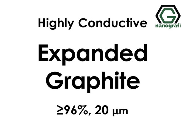 Highly Conductive Expanded Graphite Micron Powder, Purity: ≥ 96%, Size: 20 µm