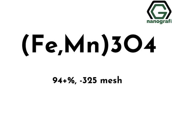 Manganese Ferrite Black Oxide Micron Powder,  (Fe,Mn)3O4, 94+%, -325 mesh