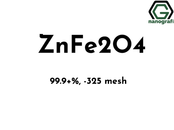 Zinc Ferrite (ZnFe2O4)  Nanoparticle/Nanopowder,  Zinc Iron Oxide Nanopowder, -325 mesh, 99.9%