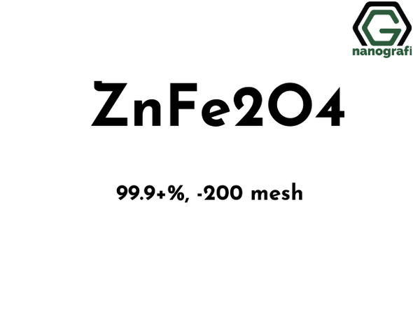 Zinc Ferrite (ZnFe2O4)  Nanoparticle/Nanopowder,  Zinc Iron Oxide Nanopowder, -200 mesh, 99.9%