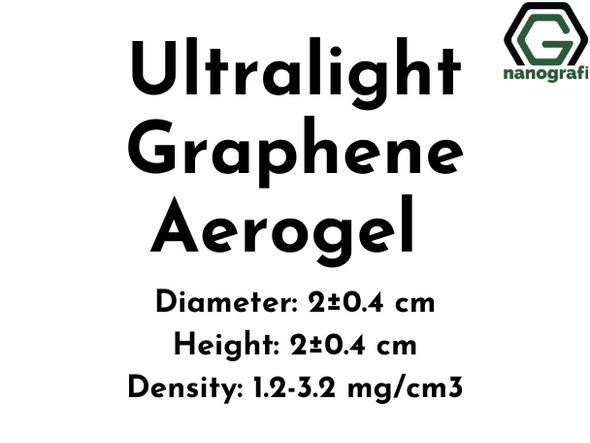 Ultralight Graphene Aerogel, Diameter: 2±0.4 cm, Height: 2±0.4 cm
