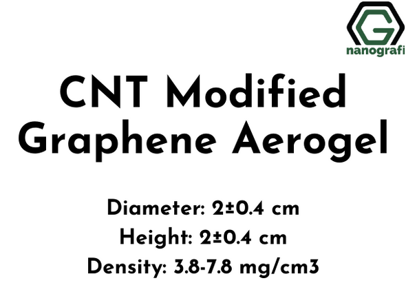 Carbon Nanotubes(CNT) Modified Graphene Aerogel, Diameter: 2±0.4 cm, Height: 2±0.4 cm