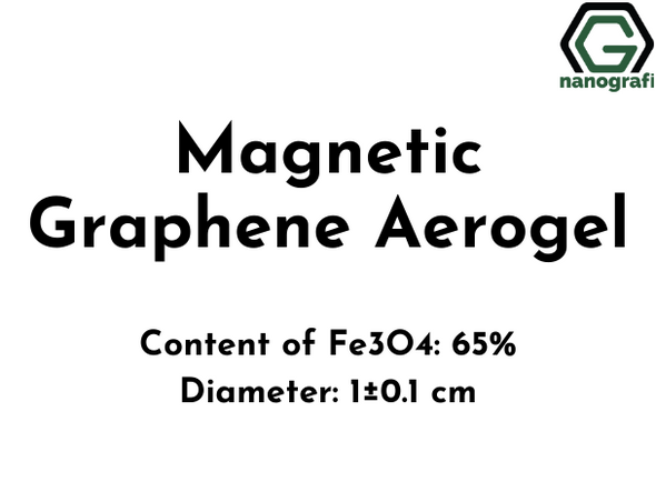Magnetic Graphene Aerogel, Content of Fe3O4: 65%, Diameter: 1±0.1 cm