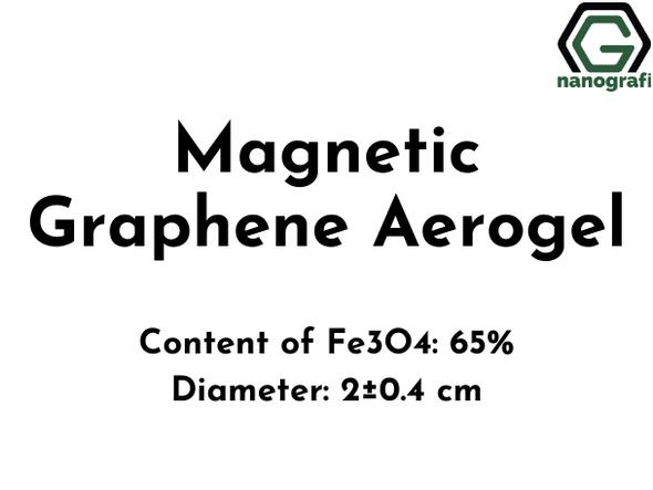 Magnetic Graphene Aerogel, Content of Fe3O4: 65%, Diameter: 2±0.4 cm