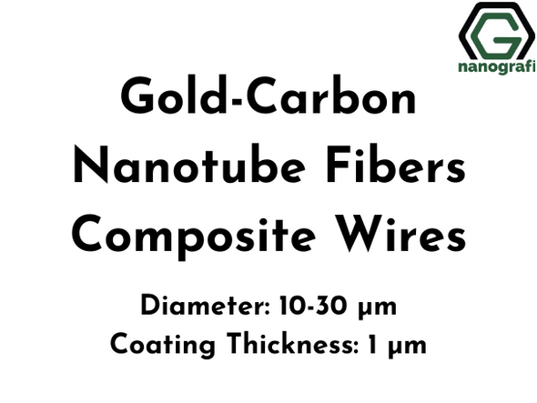 Gold-Carbon Nanotube Fibers Composite Wires, Au-CNT, Diameter: 10-30 µm, Coating Thickness: 1 µm, Electrical conductivity: 1x10^7 S/m