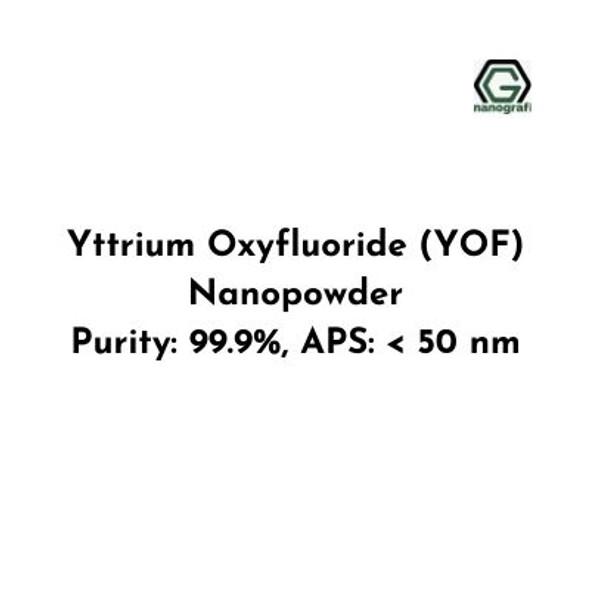 Yttrium Oxyfluoride (YOF) Nanopowder, Purity: 99.9%, APS: < 50 nm